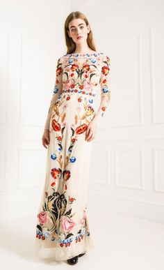 Temperley London Long Cream Toledo Dress