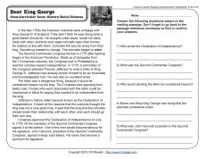 Dear King George | Accelerated Reader | Pinterest | Reading ...