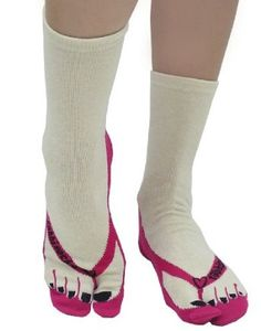 "tabbisocks Unisex ""Color Pedicure"" Japanese Tabi Socks (Red) tabbisocks. $12.99"