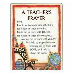 Teachers' prayer