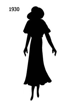 1930 to 1940 Free Black Silhouettes in Costume History - Fashion History, Costume Trends and Eras, Trends Victorians - Haute Couture Shadow Silhouette, Silhouette Painting, Fashion Silhouette, Black Silhouette, Black N White Images, Black And White, Vintage Scrapbook, 1930s Fashion, Free Black