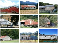 Wool sheds in New Zealand. Where the shearing happens. www.cosytoes.co.nz Sheds Nz, Australian Farm, Nz History, Farm Shed, Red Houses, Shed Homes, Building Structure, South Island, Windmill