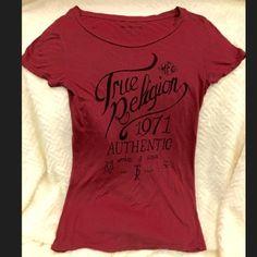 148c452e Woman's True Religion tee shirt, S Woman's True Religion Tee shirt, maroon.  Size