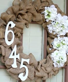 House number wreath on Etsy, $35.00