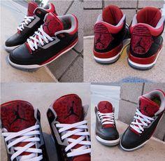 Air Jordan 3 WILD BANDIT Custom Sneakers _! Cheap Jordan Shoes, Jordan Shoes Girls, Air Jordan Shoes, Custom Jordans, Custom Sneakers, Air Max Camo, Nike Headbands, Sneaker Bar, Popular Sneakers