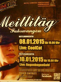 "Alleinunterhalter CoolCat an den ""Meitlitäg"" in Fahrwangen - Plakat. www.alleinunterhalter-coolcat.ch"