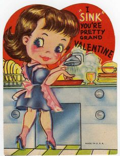 I sink you're grand, Valentine. Kinder Valentines, My Funny Valentine, Valentines Greetings, Happy Valentines Day, Christmas Greetings, Valentine Images, Vintage Valentine Cards, Vintage Holiday, Valentine Day Cards