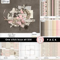 Lily Rose ~ 6-pack plus FWP by Fanette Design