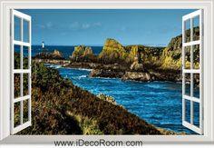 3D France Sea Coast Bretagne window wall sticker art decal IDCCH-LS-004766