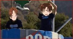 Prussia and Germanu WIpeout with Romano and Italy -Hetalia