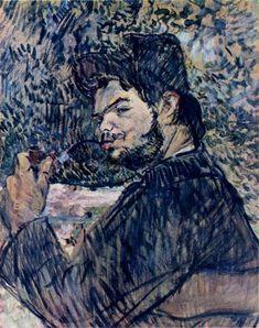 A Laborer at Celeyran, 1882 by Henri de Toulouse-Lautrec. Post-Impressionism. portrait. Musee Toulouse-Lautrec, Albi, France