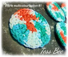 Eco Friendly Face Scrubbers, Multicolour Reusable Makeup Removers, Cotton Face Scrubbies, Cotton Pads, Handmade Gift for Her, Teens Gift by icrochetedthis on Etsy Crochet Faces, Crochet Round, Dr Brown Bottles, Makeup Removers, Handmade Gifts For Her, Cerise Pink, Spa Gifts, Cotton Pads, Gifts For Teens