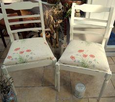 Shabby Chic Upholstered Chairs, Lovely Poppy Design