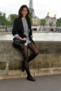 Paris - Black & White Stripes
