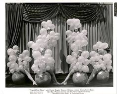 """1937 chorus girls for """"Turn off the Moon""""."""