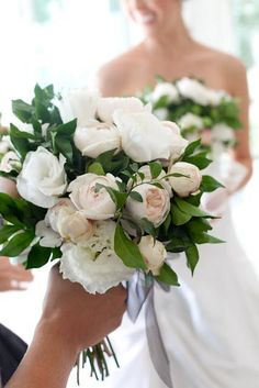 Winter Wedding Flowers - This arrangement makes me reconsider greens in my bouquet.