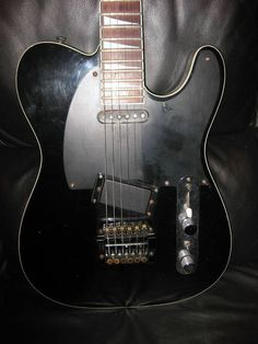 Fernandes tele style guitar with a Kahler!