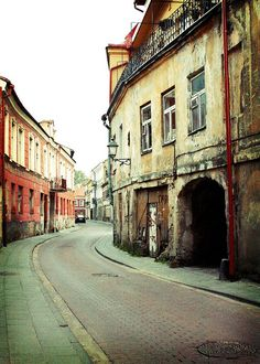 Vilnius, Lithuania. The quaint streets are one of the many reason I loved living in Vilnius.