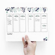 70 incredibly pretty floral bullet journal spreads - Little Bear Creations Bullet Journal Planner, Bullet Journal Spreads, Bullet Journal Notes, Bullet Journal Themes, Bullet Journal Layout, Bullet Journal Vertical Weekly Spread, Bullet Journal Number Fonts, Bullet Journal Leaves, Bullet Journal Markers