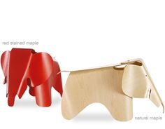 Love Eames plywood elephants for the kids.