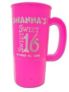 Personalized Sweet 16 Party Favor Steins  sc 1 st  Pinterest & Custom Sweet 16 Favor Mug   Sweet 16 Gifts and Favors