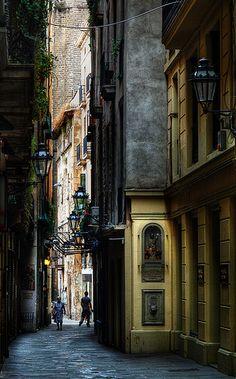 Carrer Petritxol, Barri Gotic, Barcelona