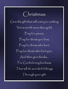 Everyday with Mary May: Christmas Give the Gift That Will Cost You Nothing Yet Is Worth More Than Gold