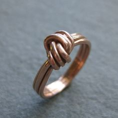 KNOTTED TRIO 14kt rose gold ring Made to Order by ballandchain, $350.00