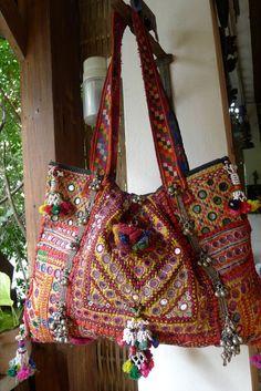 Luxury Tribal Indian Textiles Embellished Shoulder Bag. $229.00, via Etsy.