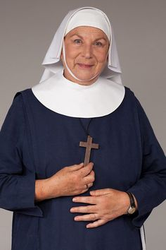 BBC One - Call the Midwife - Sister Evangelina (Pam Ferris) Sister Evangelina is the only one of the sisters who comes from the same tough, uncompromising background as the community they serve. Call The Midwife Characters, Masterpiece Mystery, Sister Act, Bbc Drama, American Series, British Things, Uk Tv, Fiction, Bbc One