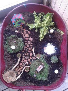 Savanahs Completed fairy garden.