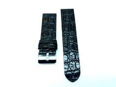 Curea ceas piele naturala neagra 24 mmCuloare neagraImprimeu crocodilCatarama clasica argintieDin piele NATURALA. Precomanda daca nu este in stoc. Nail Clippers, Silver, Accessories, Money, Ornament