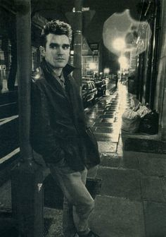 Vintage Morrissey streetscape at night