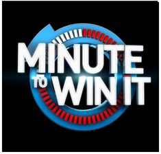 Minute to Win It Party Ideas. Best party ever. We are still going to be on this show! Although I think it's cancelled :(