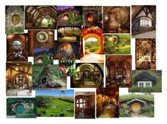 """""""Hobbit Houses"""" by jadebailey-bailey ❤ liked on Polyvore featuring interior, interiors, interior design, home, home decor and interior decorating"""