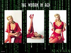 Girl in red dress matrix actress