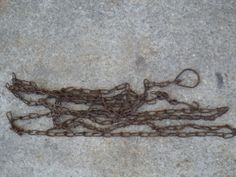 Vintage Trapping Chain with hooks trap chain by rustyitems on Etsy, $14.00