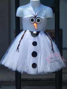 Olaf inspired Snowman tutu dress Halloween by GlitterPrincessGalo2, $30.00