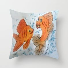 Silly goldfish great for a child's room with a clock to match