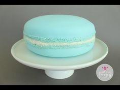 HOW TO MAKE A GIANT MACARON CAKE - YouTube