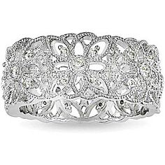 Sterling Silver and Diamond Eternity Ring