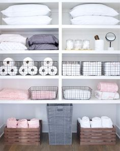 Tips and tricks for cleaning every room of your home: The entryway laundry room kitchen pantry living room master closet kids' room and beyond. Plus: The best products for organizing and storage. - April 21 2019 at Linen Closet Organization, Bathroom Organisation, Closet Storage, Kitchen Storage, Laundry Storage, Storage Organization, Pantry Organisation, Diy Storage, Pantry Ideas