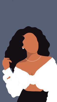Self Portrait Art, Digital Portrait, Black Girl Art, Black Women Art, Mode Poster, Black Art Painting, Small Canvas Art, Feminist Art, Afro Art