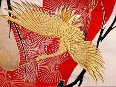 Traditional Wedding Kimono | 034 Japanese traditional silk wedding kimono, 1930's
