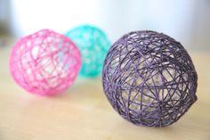 DIY: opskrift på hvordan du kan lave dine egne garnlamper / garnballoner / garnbolde - perfekt pynt til havefesten!