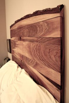 Live Edge Headboard. Black Walnut
