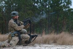 A soldier, assigned to 82nd Combat Aviation Brigade, 82nd Airborne Division, conducts a team live-fire training event at Fort Bragg, N.C., Dec. 3, 2015.
