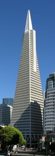 Transamerica pyramid. San Francisco. The tallest skyscraper in the San Francisco  skyline. Designed by architect William Pereira,  finished in 1972,