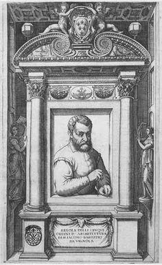 Jacopo Barozzi da Vignola (1507-1573), 'Regola delli Cinque Ordini d'Architettura', Rome 1562; Plate I: Frontispiece.