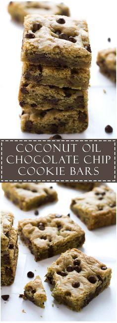 Coconut Oil Chocolate Chip Cookie Bars | Marsha's Baking Addiction